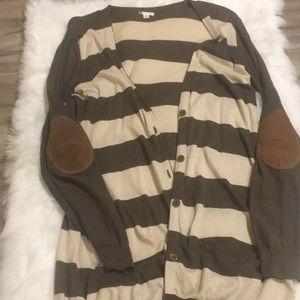 BP Striped boyfriend sweater